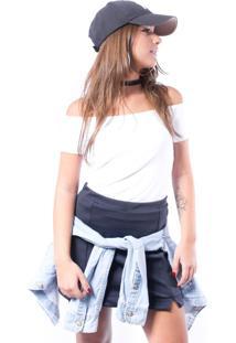 Blusa Up Side Wear Ciganinha Branca - Kanui