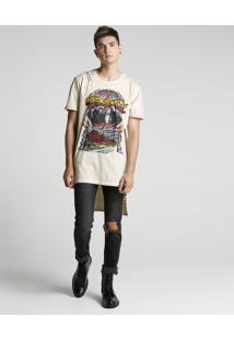 Camiseta Assimétrica Estonada Aerosmith