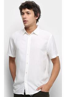 Camisa Colcci Relax Lisa Masculina - Masculino-Off White