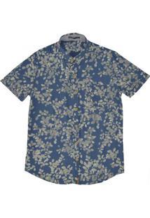 Camisa Masculina Em Tecido De Viscose Estampada