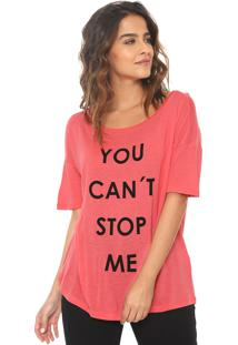 Camiseta Canal Cant Stop Rosa
