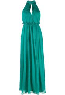 Alberta Ferretti Halterneck Dress - Verde