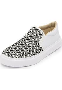 Sapatilha Slip On Ec Shoes Branco - Branco - Feminino - Dafiti