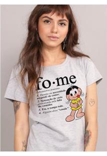 Camiseta Bandup! Turma Da Mônica Magali Fome - Feminino-Cinza