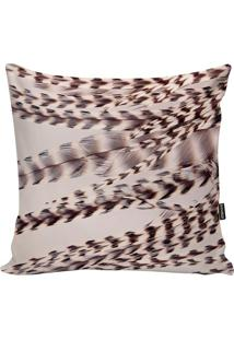 Capa De Almofada Feathers- Off White & Marrom- 45X45Stm Home