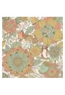 Papel De Parede Adesivo - Flores E Pássarinhos - 065Ppn