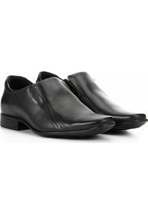 Sapato Social Pegada Bico Quadrado Masculino - Masculino-Preto