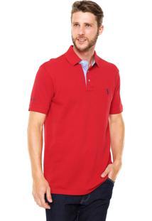 Camisa Polo Aleatory Comfort Vermelha