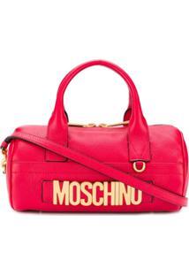 Moschino Bolsa Tiracolo Oversized Com Logo - Vermelho