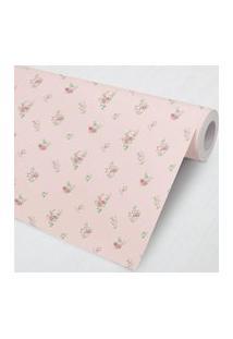 Papel De Parede Floral Petit Rosa 3M Gráo De Gente Rosa