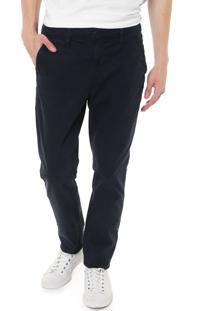 Calça Sarja Calvin Klein Jeans Chino Color Azul-Marinho