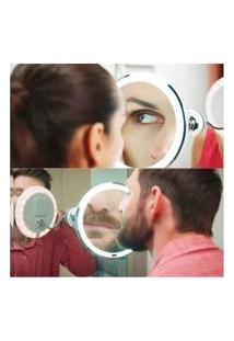 Espelho Banheiro Quarto Led Flexível 360° Maquiagem 10X Mais