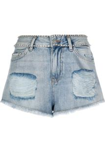 Twin-Set Bermuda Jeans Destroyed - Azul