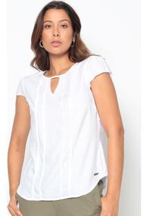 Blusa Texturizada Com Pregas- Branca- Vip Reservavip Reserva