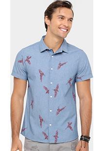 Camisa Coca-Cola Estampada Águias Masculina - Masculino