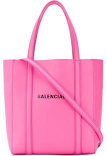 Balenciaga Bolsa Tote Everyday Xxs De Couro - Rosa