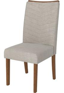 Cadeira Serena 2 Peças - Rústico Terrara Com Pena Bege