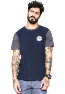 Camiseta Quiksilver Snaken Azul-Marinho