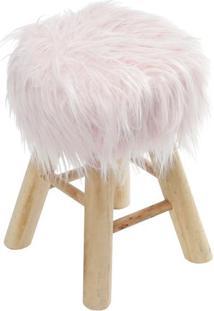 Puff Glamour- Rosa & Bege- 40Xã˜28Cm- Or Designor Design
