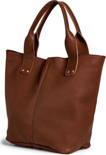 Bolsa Shopper Clube Do Sapato De Franca Belaju Bag 01 Chocolate - Kanui