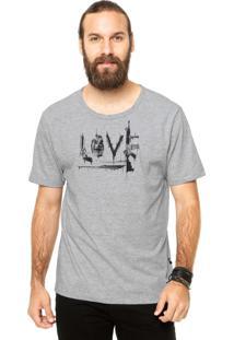 Camiseta Manga Curta Cavalera Love Cinza