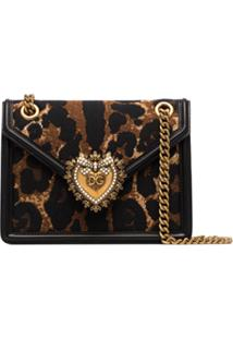 Dolce & Gabbana Bolsa Tiracolo Devotion Animal Print - Marrom