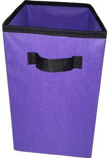 Caixa Organizadora De 28X30X28 Roxo Com Alça