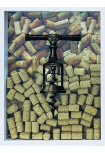 Quadro Porta Rolhas 32X42X4 Saca Rolhas-Kapos - Branco