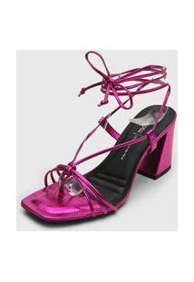 Sandália Dakota Amarração Pink