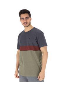 Camiseta Hang Loose Lineup - Masculina - Cinza Esc/Verde