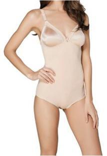 Body Modelador Compliment Triumph Feminino - Feminino-Bege