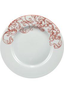 Prato Sobremesa Porcelana Schmidt - Dec. Millenium