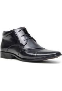 Sapato Social Gofer Promais 15006 Co - Masculino-Preto