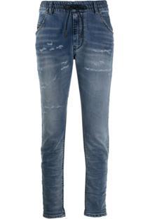Diesel Calça Jogger Jeans Boyfriend Krailey - Azul