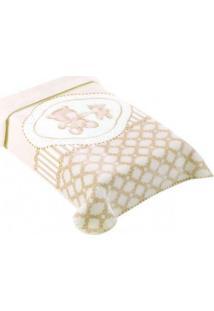 Cobertor Premium Estampado Classic Bege