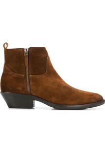 The Seller Panelled Ankle Boots - Marrom