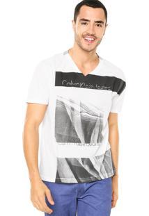 Camiseta Calvin Klein Jeans Tinturado Branca