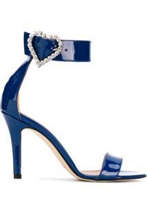 Paris Texas Sandália De Couro - Azul