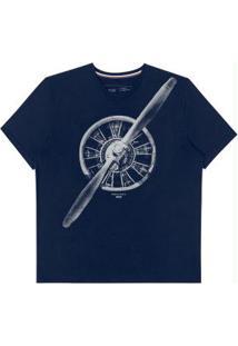 Camiseta Manga Curta Hangar 33 Azul Marinho