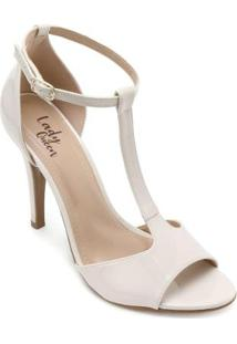 Sandália Lady Queen Feminina - Feminino-Off White