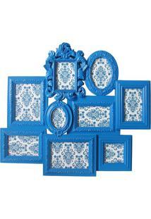 Painel De Fotos Multiple Barroque- Azul- 58,5X66,5X3Btc Decor
