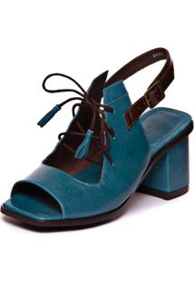 Sandalia Feminina Ava Gardner - Riverside / Chocolate 7427 - Azul - Feminino - Dafiti