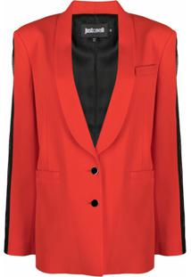Just Cavalli Blazer Com Abotoamento Simples - Vermelho