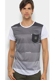 Camiseta Polo Rg 518 Swag Sublimada Masculina - Masculino-Branco