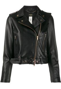 Liu Jo Leather Biker Jacket - Preto