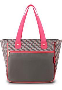 Bolsa Shopper G Cinza Zig Zag - Jacki Design