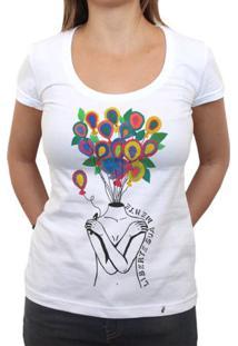 Liberte Sua Mente - Camiseta Clássica Feminina