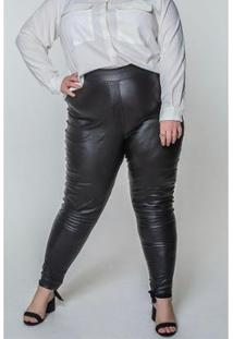 Calça Resinada Kauê Plus Size Feminina - Feminino