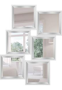 Espelho Decorativo Nápoles 85X110 Cm Branco