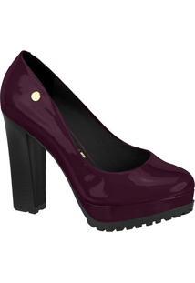 Sapato Meia Pata Tratorado- Roxo & Preto- Salto: 12Cvizzano